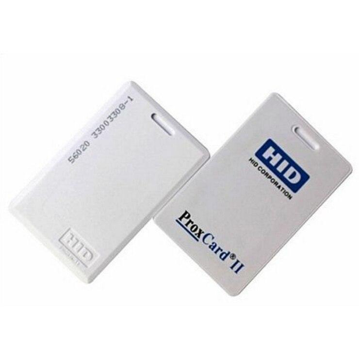 1 unidad, 125khz, tarjeta de proximidad ProxCard II 1326 LMSMV de H-ID auténtica para Control de acceso, formato H10301 de 26 bits