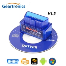 OBD2 V1.5 Elm327 Bluetooth V 1.5 Obd 2 Elm 327 Auto Diagnose-Tool Scanner Elm-327 Obdii Adapter super Mini Auto Diagnostic Tool