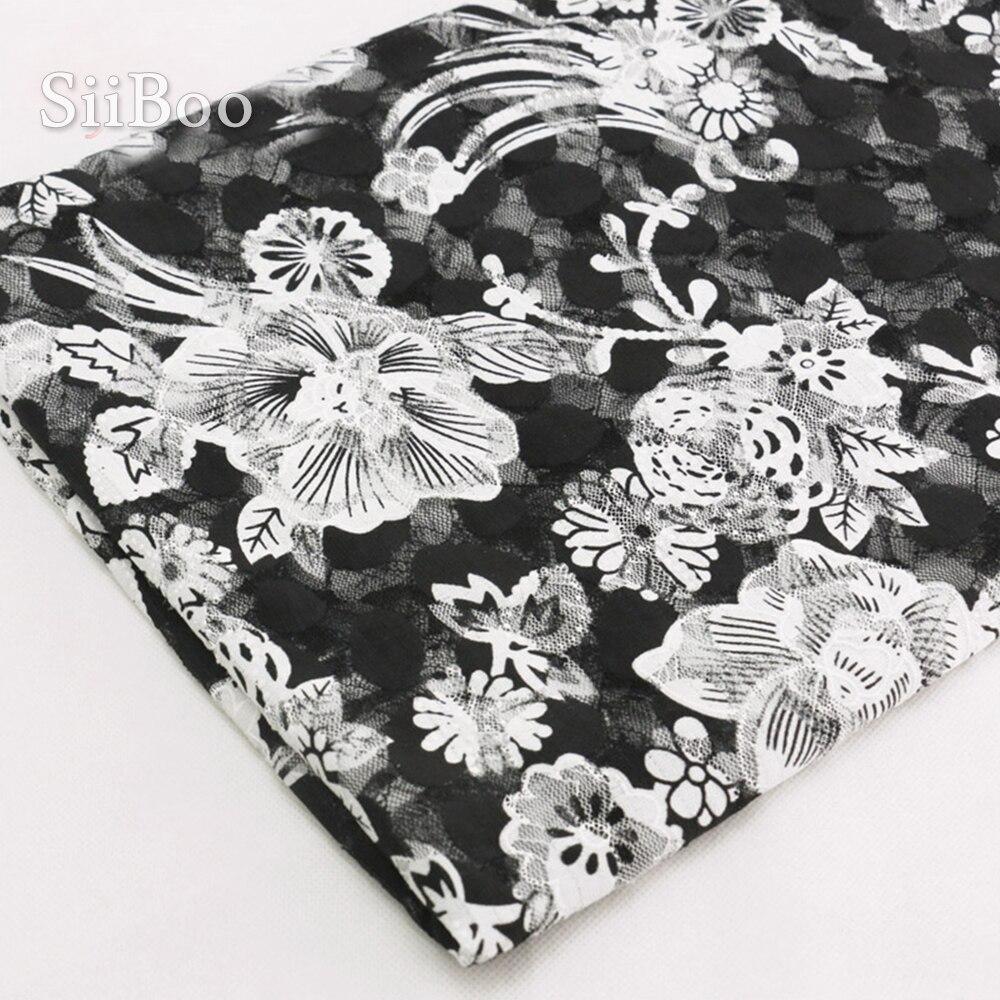 2019 de alta calidad impreso floral multi color de malla de encaje...