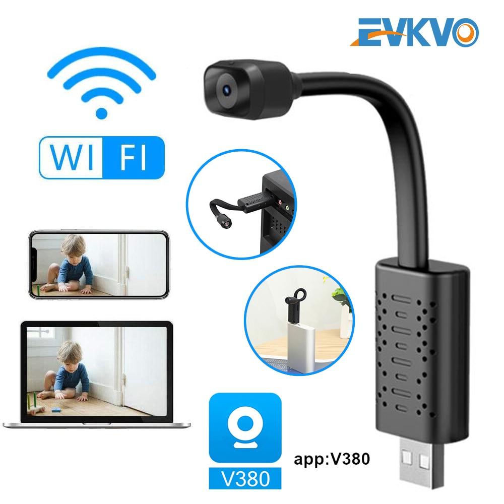 Câmeras de Vigilância com Wifi Armazenamento em Nuvem Mini Câmera Completo hd 1080p P2p Cctv sd Cartão Inteligente ai Detecção Humana V380 App ip Usb