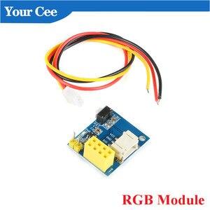 ESP8266 Wi-Fi релейный модуль RGB модуль USB к ESP8266 DHT11 Температура влажность адаптер ESP-01 ESP-01S DS18B20 WS2812 для Arduino