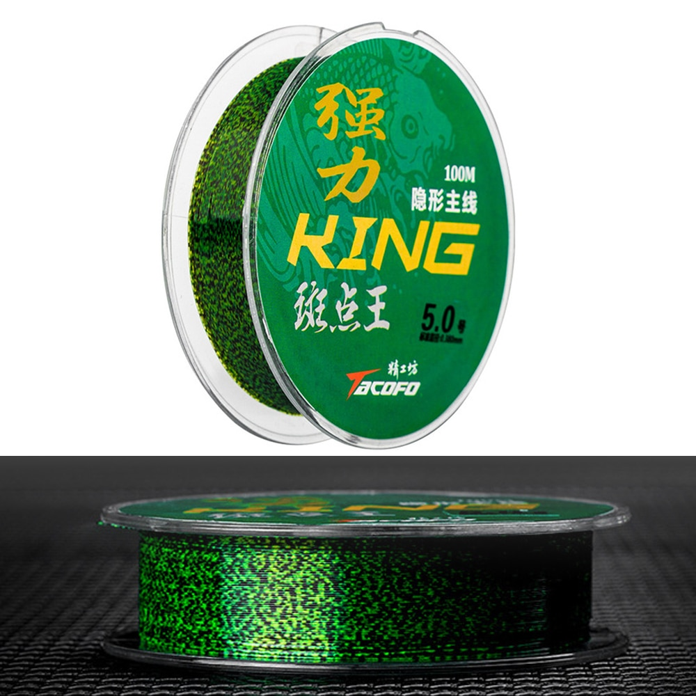 100m Invisible Spotted Fishing Line Fluorocarbon Coating Super Strong Speckle Carp Nylon Monofilament Sinking Fly Fishing Line 200 meters speckle fluorocarbon coating nylon fishing line sinking high abrasion resistance stretchable super invisible line