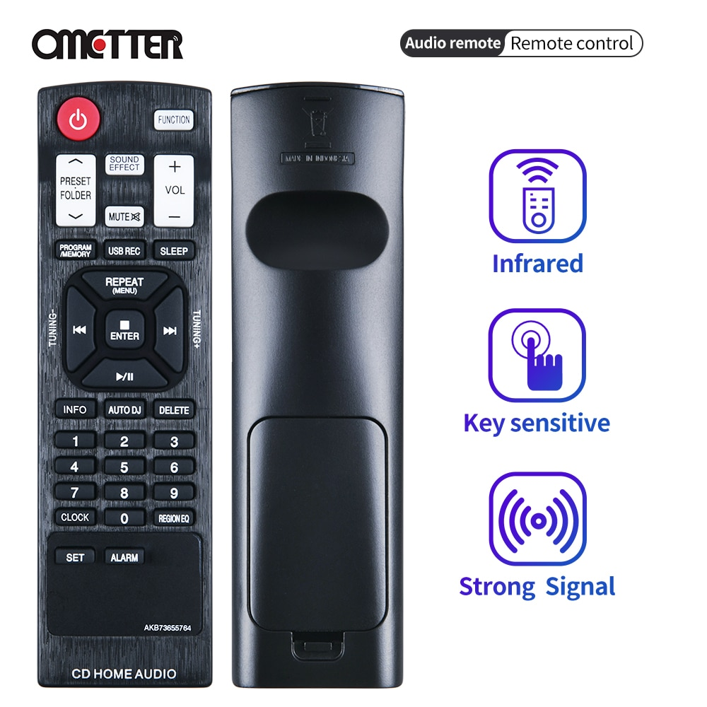 Suitable for LG CD home audio control remote control AKB73655764