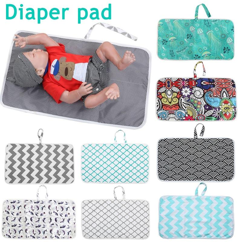 2019 nuevo pañal de recién nacido Cambio de alfombra portátil plegable lavable para viajes nuevo diseño