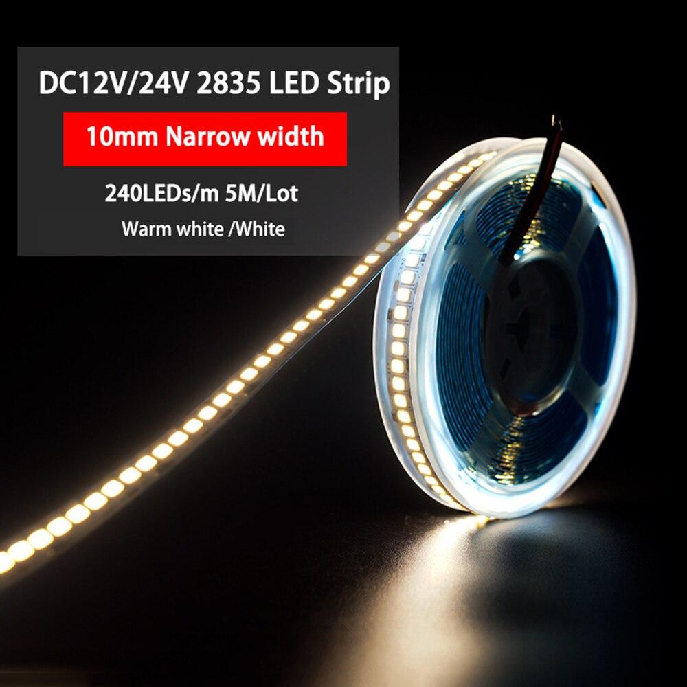 Супер яркий светодиодный лента светильник s DC 12V 24V SMD 2835 240 светодиодный s/hdmi кабель 1 м 2 м 3 м 4 м 5 м гибкий канат светодиодный полосы теплый холодный белый светильник