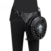 skull embroidered steampunk waist bag new 2021 multifunctional crossbody bag female outdoor riding mobile phone waist bag