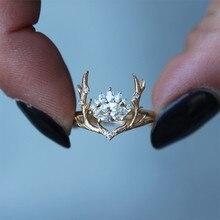 VAGZEB or Rose Elk forme femmes anneaux mode nouvellement conçu bijoux fin anniversaire noël présent nouvel an cadeau pour fille