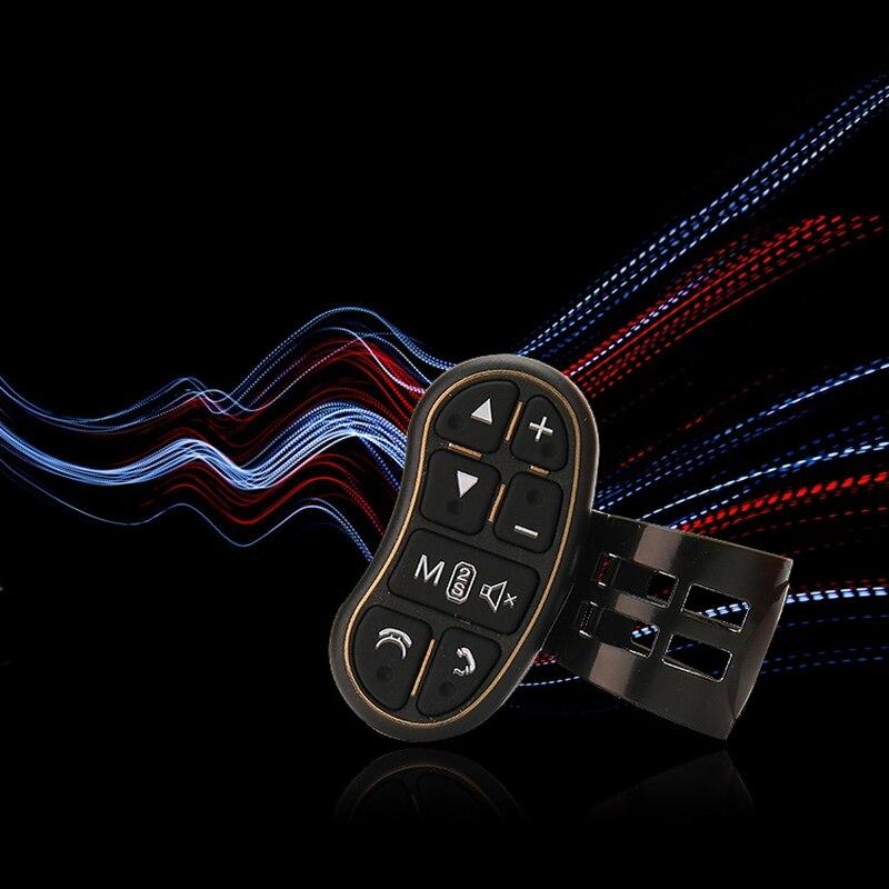 Mando a distancia inalámbrico con llave de volante Universal para coche, aplicable a cualquier marca de Control de dirección y Dvd