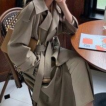 Over Knee Windbreaker Women's British Style 2021 New Spring and Autumn Loose Style Small Man Medium