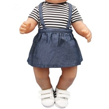 Baby clothes for doll fit 43cm new born doll accessories and american doll fashion T-shirt + imitati