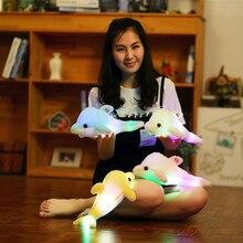 1 pièce 32cm créatif lumineux peluche dauphin poupée brillant oreiller coloré lumière LED animaux jouets enfants enfants cadeau 4 couleurs