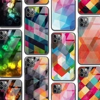 fashion colorful pattern case for iphone 12 case for iphone 1211 pro xr xs max mini x 7 8 6 6s plus se 2020 tempered glass cover