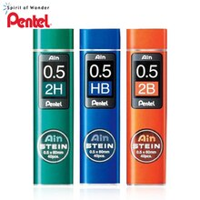 6 Tubes/Lot (40 pièces/Tube) Pentel 0.5mm recharges de crayon mécanique B,2B,3B,4B,H,2H,HB fils de crayon pour la papeterie scolaire et de bureau