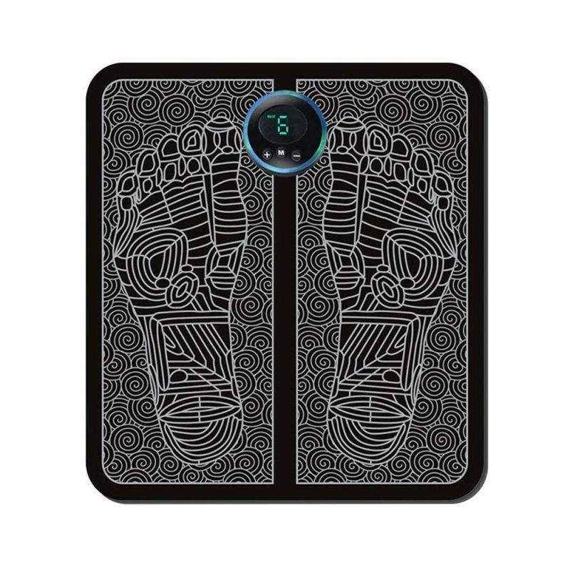 Ems elétrica almofada de massagem pé pés acupuntura estimulador muscular pés massagem almofada usb ferramenta cuidados com os pés máquina