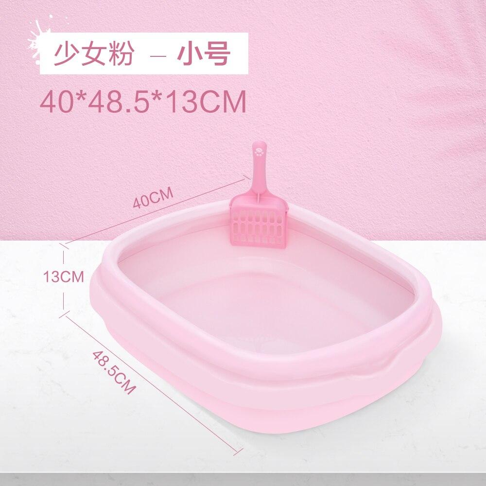 Petite litière Semi-fermée pour chats   Pelle à litière en plastique pour chiots, panier rose pour chiens, nouveaux produits danimaux de formation, MM60MSP