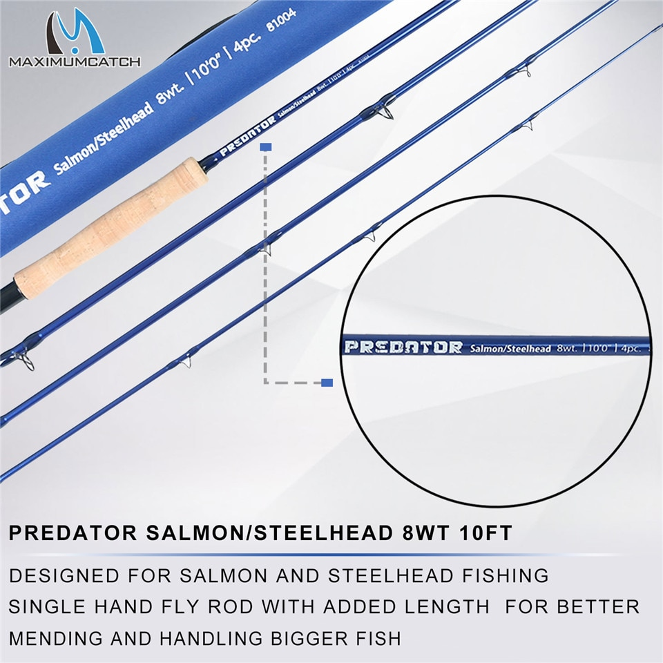 Maximumcatch 9FT Saltwater Fly Rod 8-10wt 4pcs 30T SK Carbon Fiber Fly Fishing Rod with 9/10wt Fly reel&Line Combo enlarge