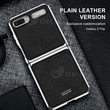 GKK оригинальный кожаный чехол книжка с обшивкой по краям для Samsung Galaxy Z, простой модный жесткий чехол книжка для Samsung Z, чехлы книжки