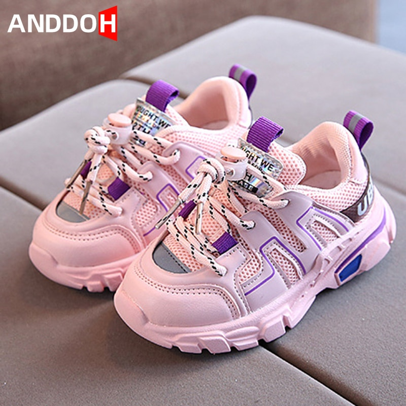 Size 21-30 Baby Breathable Mesh Toddler Shoes for Girls Boys Children Casual Non-slip Sport Sneakers