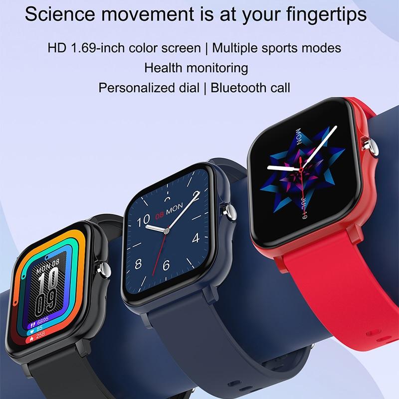 Bluetooth Call Sports Watch Men's Watches Bracelet Smartwatch Heart Rate Monitor H20 Smart Watch Women's Wristwatch Smart Clock