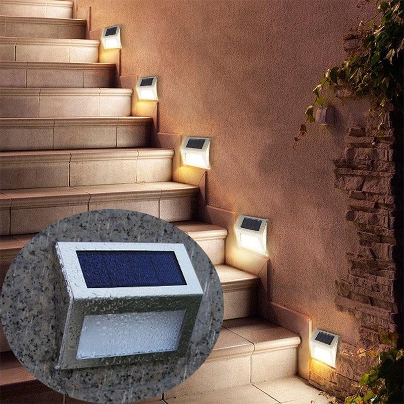 Solar Led Light Outdoor Street Lamp Wall Waterproof Garden Lights Decor