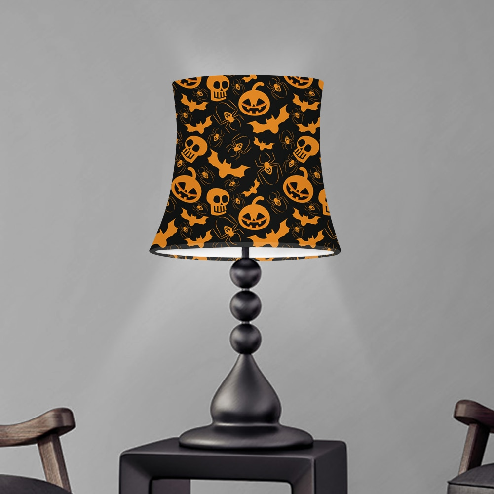 halloween cranio abobora impressao candeeiro de mesa sombra quarto abajur a prova