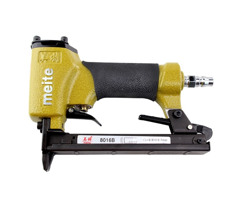 Nuevo alta calidad neumático grapadora clavadora arma u-Tipo de grapadora Meite 8016B para hacer sofá muebles/Meite