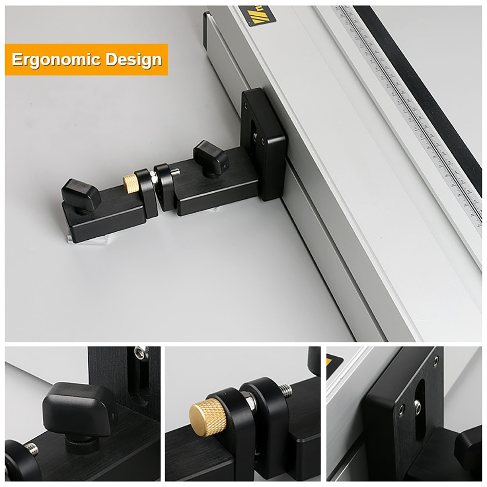 WORKBRO PRO DRILL PRESS TABLE Aluminium Profile Fence Integrated Dust Collection Duct DIY Woodworking Workbenches for Router enlarge
