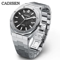 cadisen fashion top brand stainless steel automatic mens watches men mechanical wristwatch japan nh35a watch relogio masculino