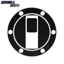 Autocollants de couverture de remplissage pour moto   Accessoires de moto en Fiber de carbone 3D, réservoir de gaz, bouchon de remplissage, autocollants adapté à APRILIA SHIVER 750 TRIUMPH 07-14 990