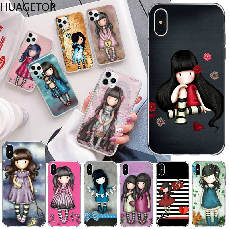 Bonito dos desenhos animados menina santoro gorjuss caso de telefone para o iphone 12 pro max 11 pro xs max 8 7 6s plus x 5S se 2020 xr capa