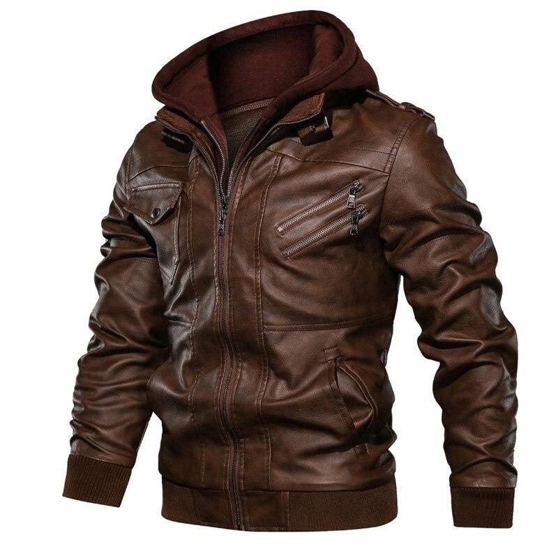 Новинка весна-зима 2020 кожаная одежда мужская кожаная одежда с капюшоном пальто для молодых мужчин плюшевая утепленная кожаная одежда