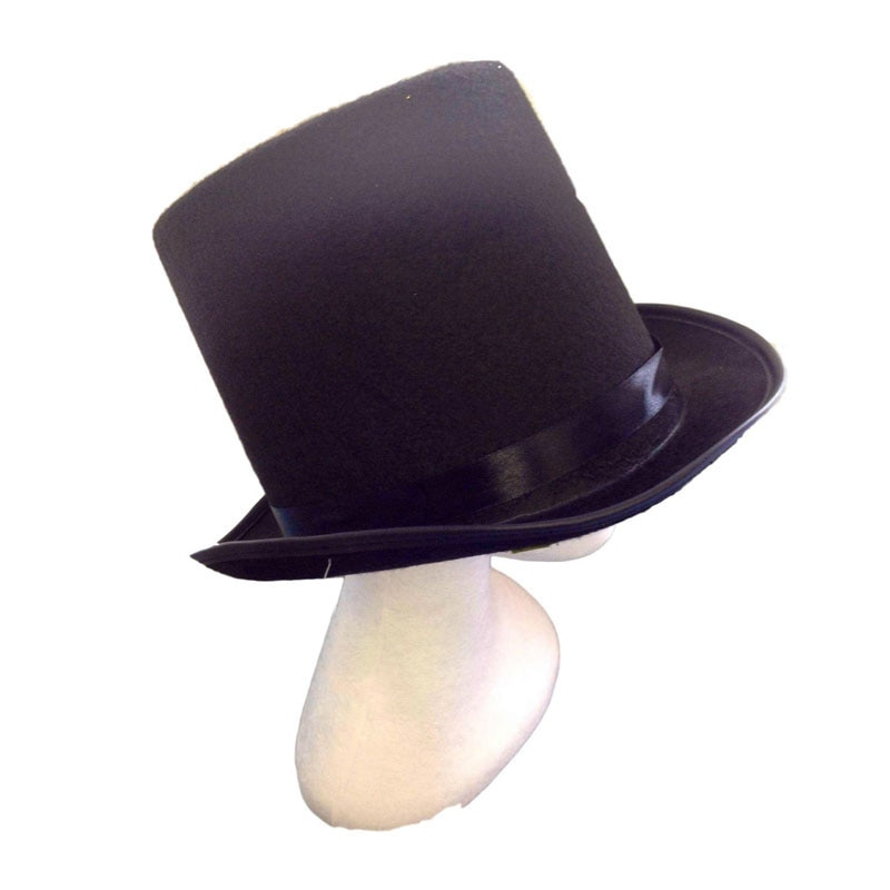 Black Top Hats Magician Performed Hat Jazz Stage Performances for Women Men Party Fedora Hat