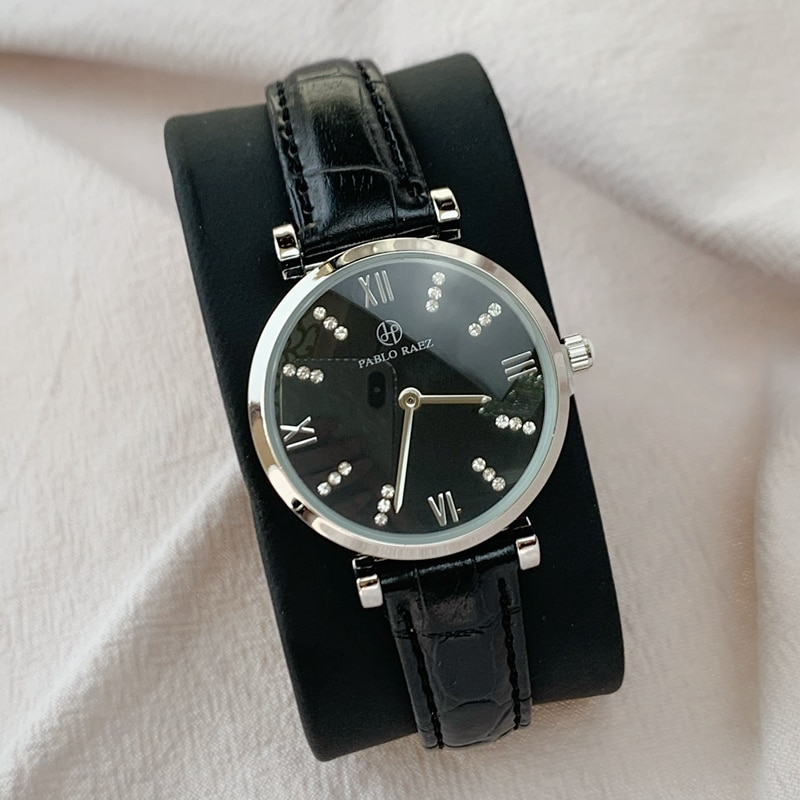 2020 nuevo reloj de estilo a la moda de alta calidad para mujer, reloj resistente al agua de acero para mujer, relojes de lujo de cuero con envío directo