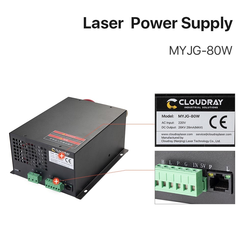 Startnow se 80W-B CO2 90W di Potenza del Laser di Alimentazione 80W...