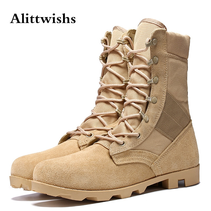 New Army Men's Combat Tactical Boots Outdoor Hiking Boots Men Desert Leather Ankle Boots Military Male Combat Shoes Botas Hombre designer men winter military boots male snow fur combat ankle boots waterproof army rain shoes chaussure homme