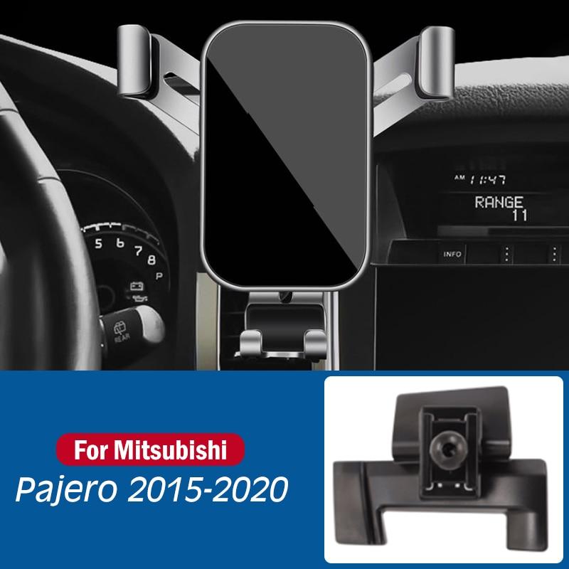 Автомобильный мобильный телефон держатель для Mitsubishi Pajero V97 2015-2020 специальный крепления стойки GPS тяжести навигатора, автомобильные аксессу...