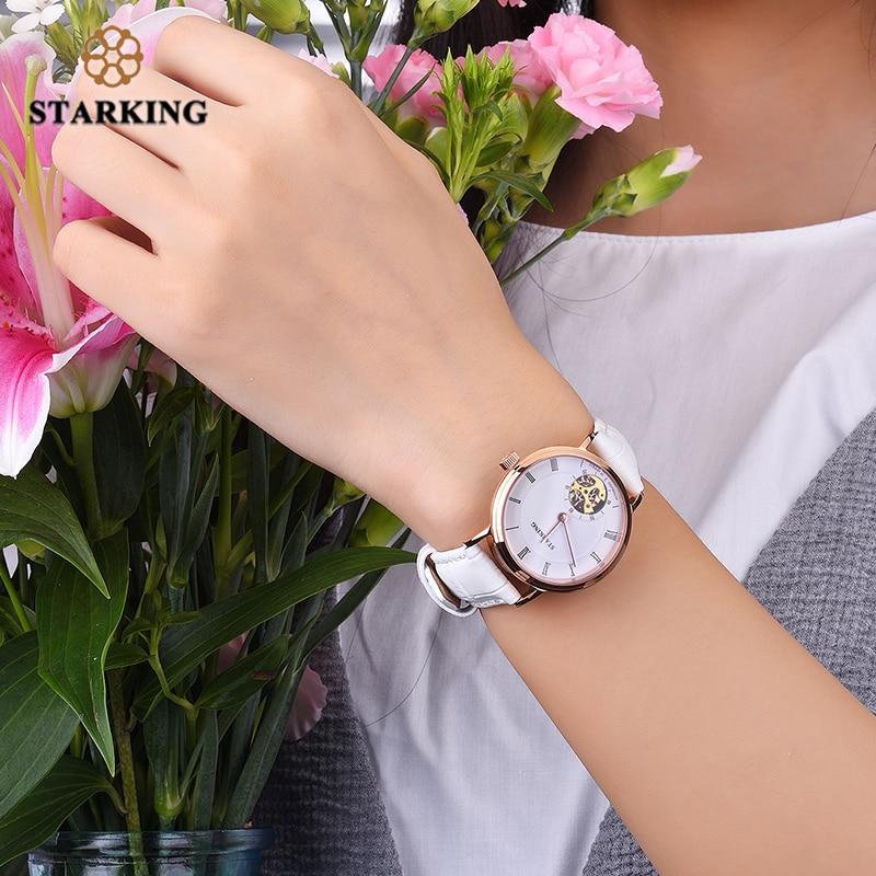 STARKING 2019 Mechanical Watch Women Dress Genuine Leather Automatic Wristwatches Fashion Casual Watch Clock Relogio Feminino enlarge