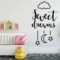 Vente chaude doux reves Art autocollant etanche Stickers muraux decoratifs vinyle decoration de la maison accessoires