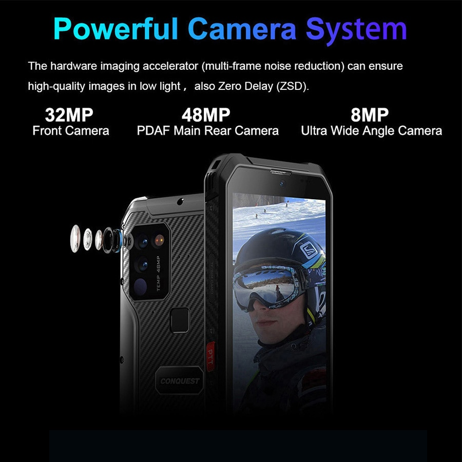Dual 5G CONQUEST S21 Global Version Android 11 Rugged Phone Smartphone IP68 Waterproof 48MP Rear Camera  NFC Mobile Phone enlarge