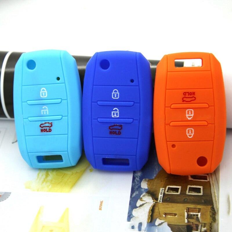 Funda protectora de silicona para k5 Rio Cee Picanto k2 Soul Ski, 3 botones, 4 botones