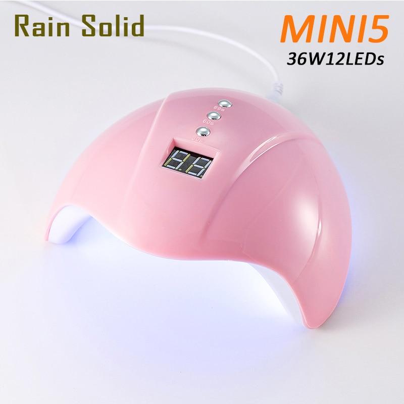 Secador de uñas para lámpara de LED UV de uñas 36W para todos los Gels 12 Leds lámpara UV para máquina de uñas curado 30 s/60 s/99 s temporizador conector USB barniz
