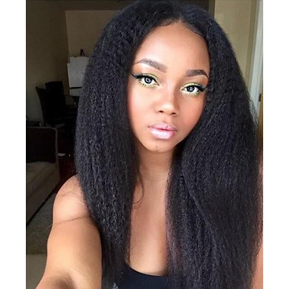 HD lace 13x6 lace front wig and gluless lace front is 13x4 lace front Remy Human Hair Wig 130% Density 8-16 inch with Baby Hair