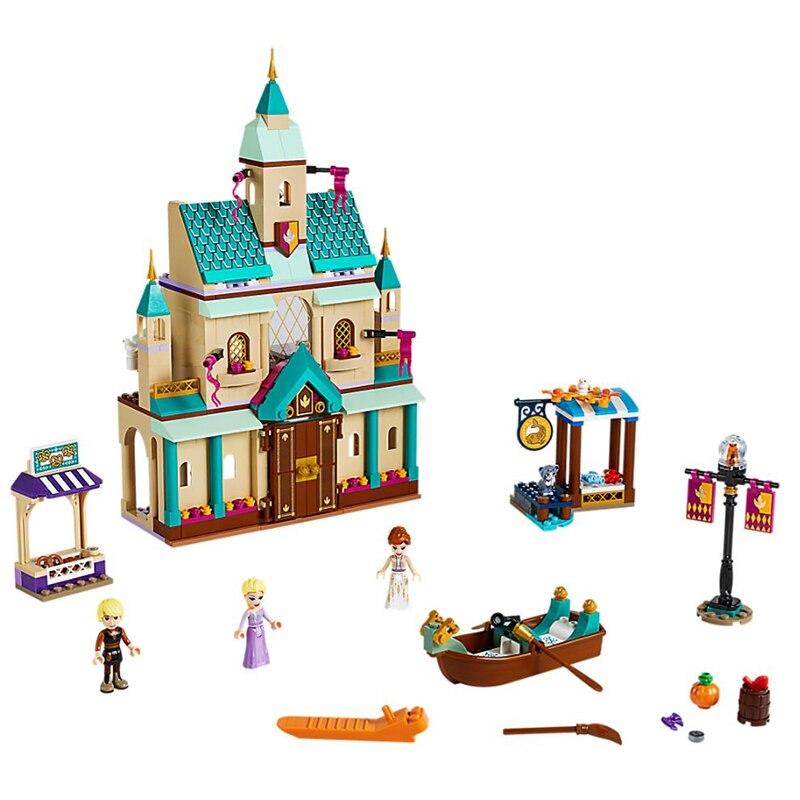 2020 Friends disneyed Series Arendelle Village blocks Model Toys Christmas Girl Gifts Legoed 41167 Friends Castle Frozeninglys 2