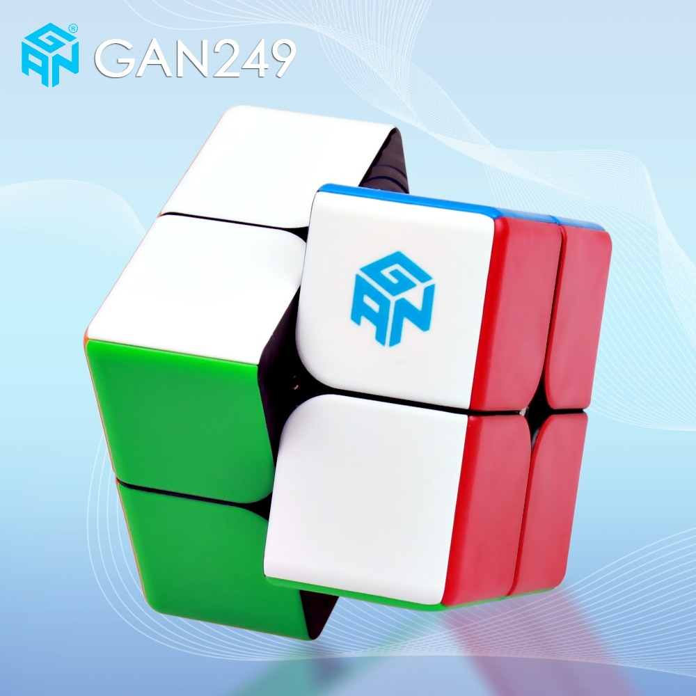 GAN249 v2 M magnético 2x2x2 cubo mágico sin etiqueta V2M bolsillo cubos profesional imanes rompecabezas Speed cubo Gans 249 2x2