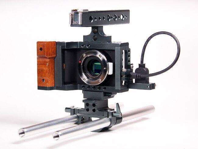 BMPCC Cage Blackmagic Pocket Cinema Kamera Rüstung Käfig Rig w/HDMI Kabel