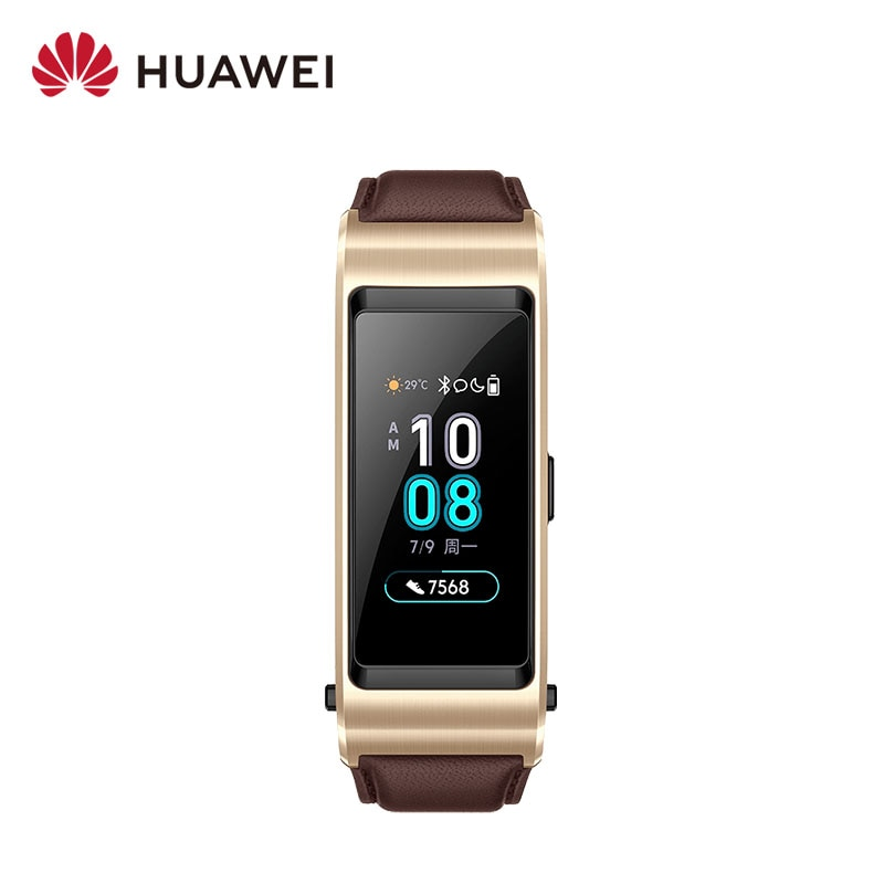 Original Huawei TalkBand B5 pulsera inteligente Bluetooth muñequeras deportivas Pantalla AMOLED táctil