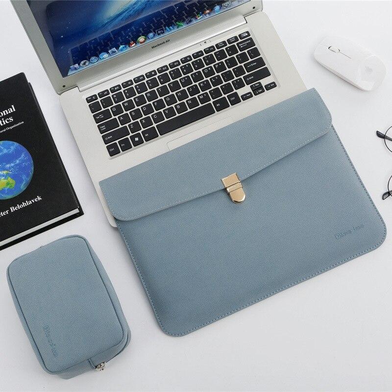 Водонепроницаемая кожаная сумка для ноутбука 14 дюймов с блоком питания для Xiaomi MI 12,5 Apple Mac book Air 13 сумка Pro 15 Touch Bar чехол