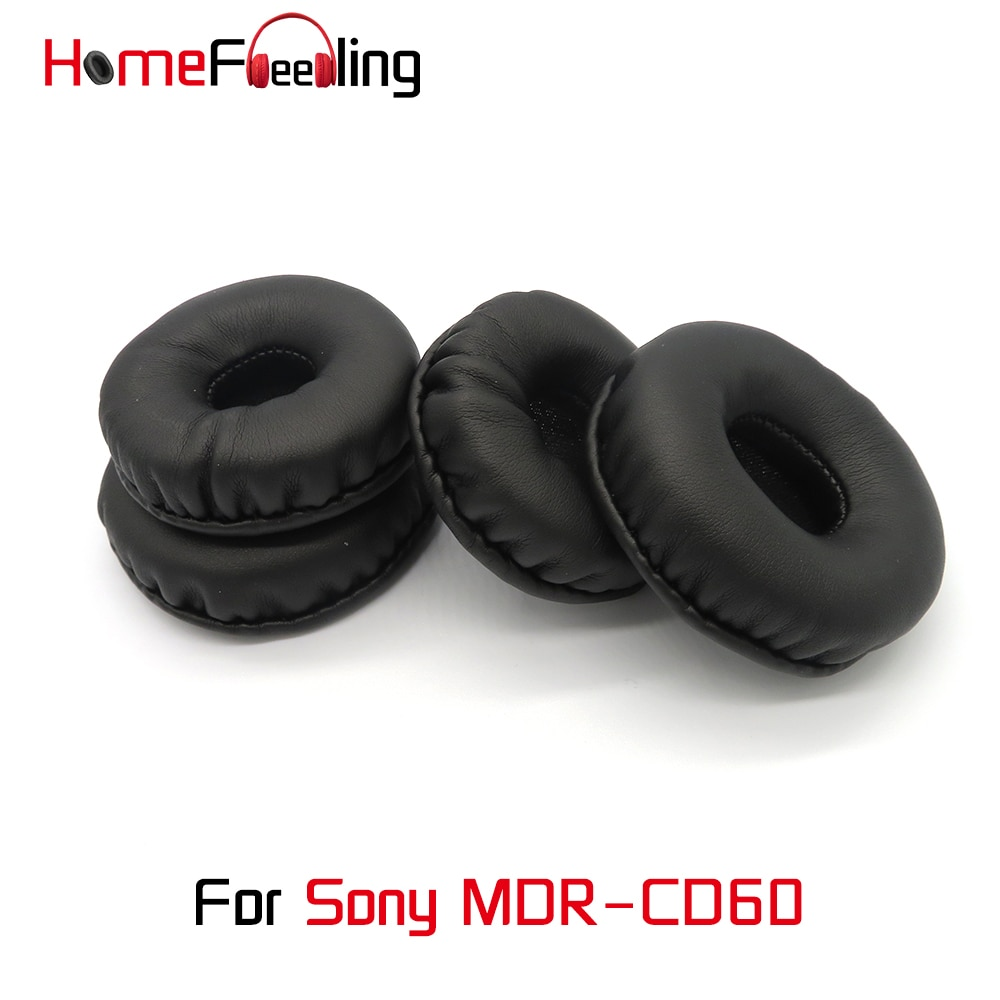 Homefeeling Ear Pads For Sony MDR-CD60 MDR CD60 Earpads Round Universal Leahter Repalcement Parts Ear Cushions homefeeling ear pads for sony mdr hw300k earpads round universal leahter repalcement parts ear cushions