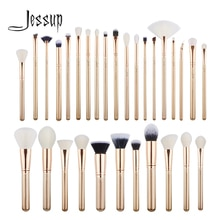 Набор кистей для макияжа Jessup, набор кистей для макияжа золотого/розового золота, 30 шт.