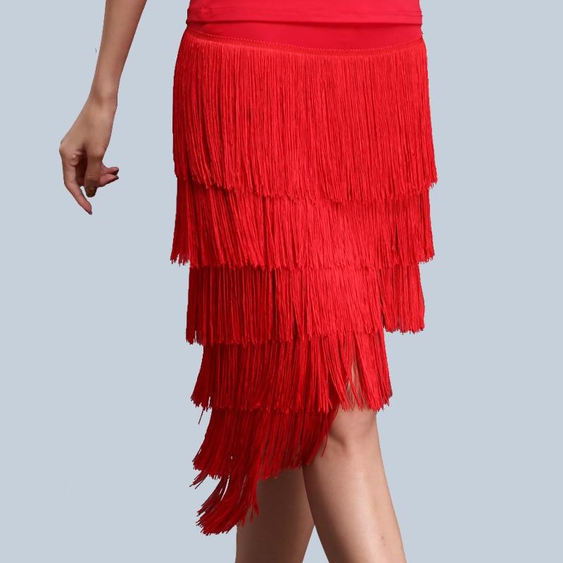 Novo vestido de dança latina chanfrado babados tassel vestido plus size M-4XL ballroom feminino sexy vestido rumba samba desempenho traje